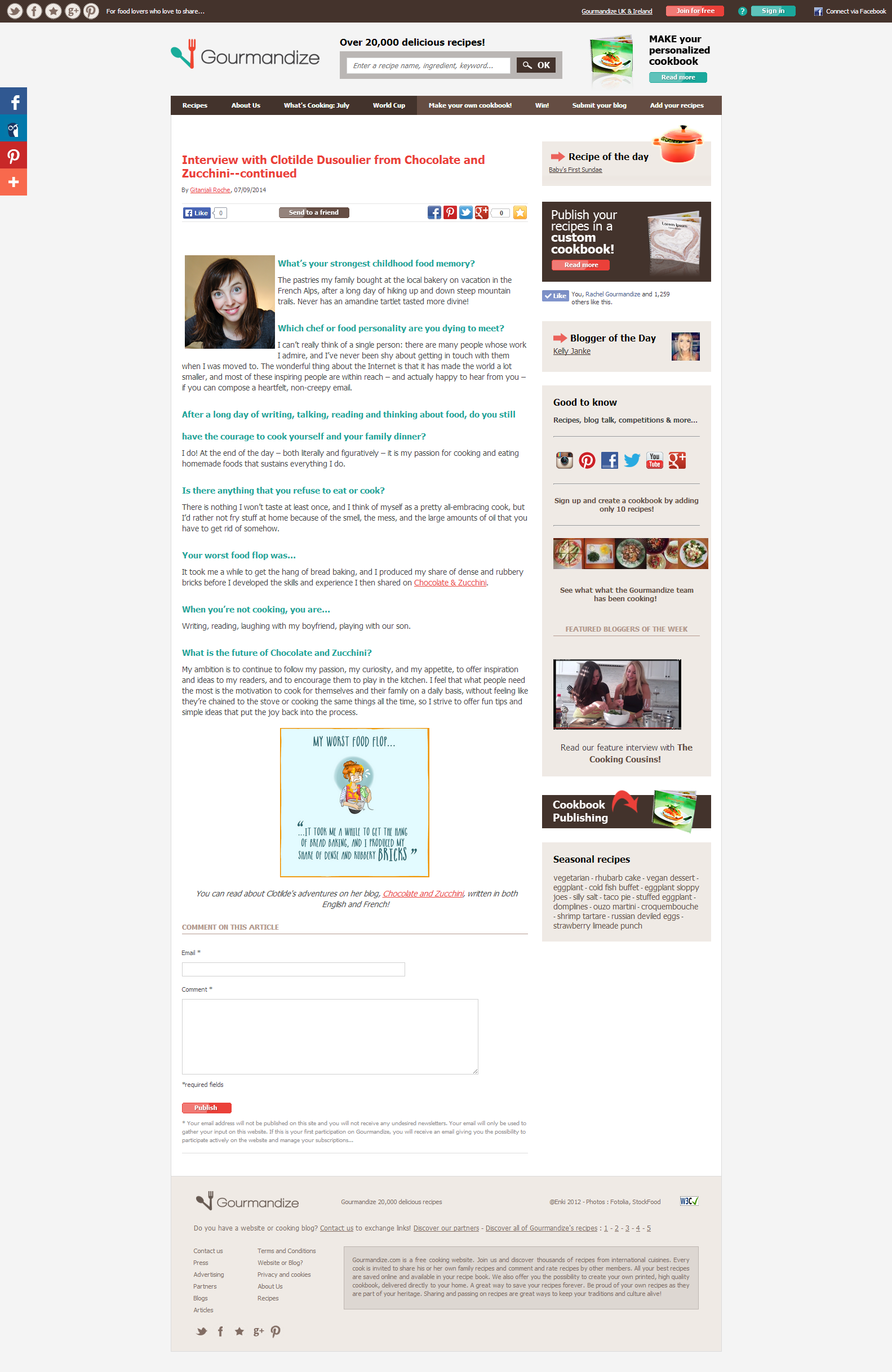 Interview with Clotilde Dusoulier from Chocolate and Zucchini continued